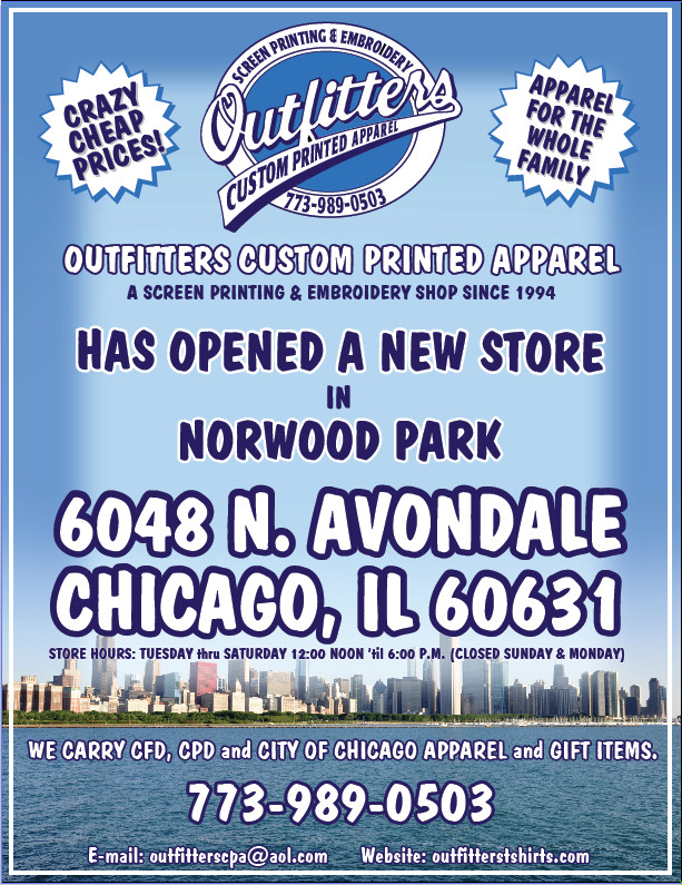 t-shirts, OUTFITTERS CUSTOM PRINTED APPAREL Chicago, IL Store on